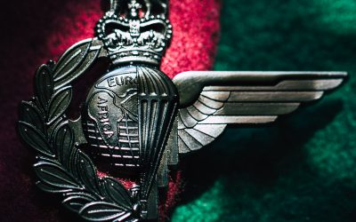 Badge unites the Royal Marines and Parachute Regiment